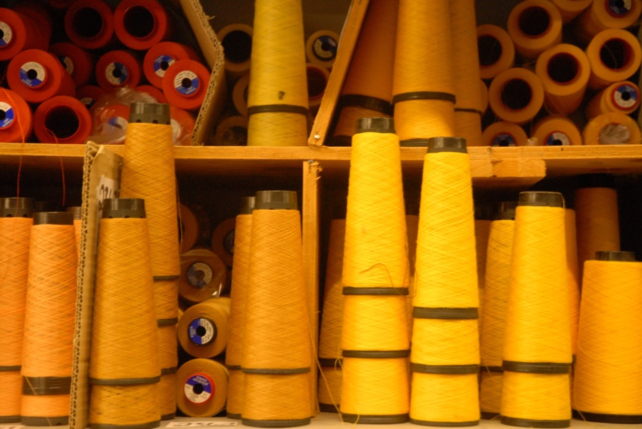 Coned Yarn at Begg and Co., source: ReMantle and Make